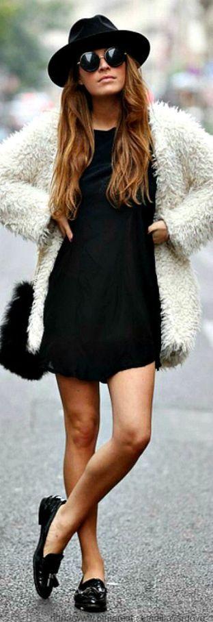 Tapado crudo + black dress