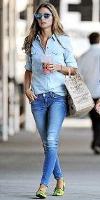 Olivia Palermo jean+jean