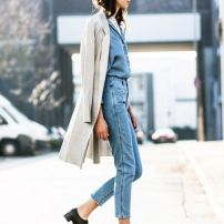 total jean look + oxford shoes