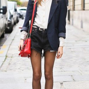 oxford shoes + jean short