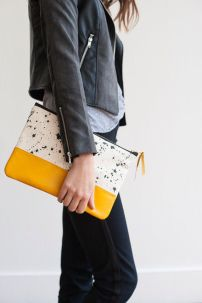 clutch & leather