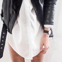 Leather Jacket B&W
