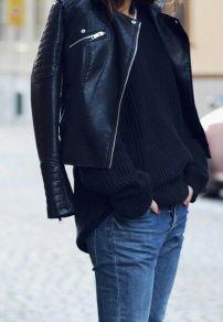 Leather Jacket + Jean
