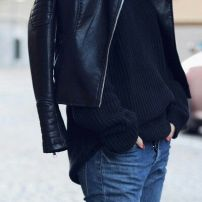Leather Jacket + Jean