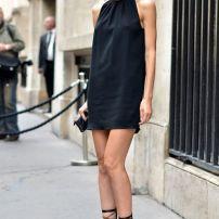little black dress cuello cerrado