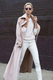 Pink Oversized Coat & White