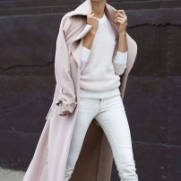 Pink Oversized Coat & White