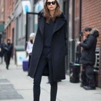 Oversized Coat Total black