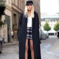 Oversized Coat skirt