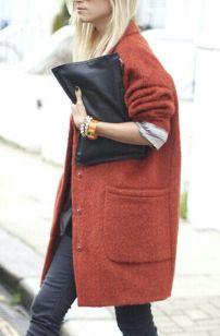 Red Oversized Coat