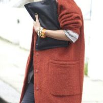 Red Oversized Coat