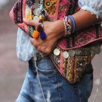 boho style clutch