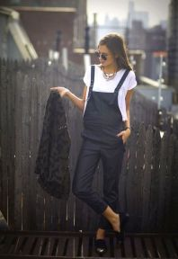 leather black overall