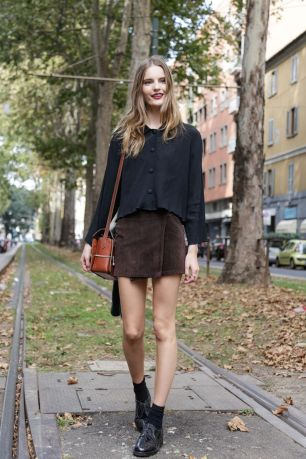 Sweden brown skirt