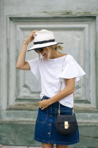 white and jean