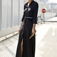 black shirtdress