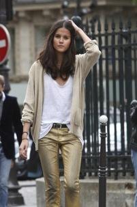 gold pant