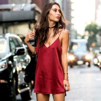 marsala short dress