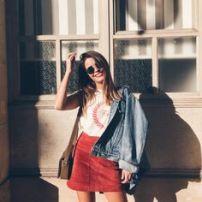 marsala skirt