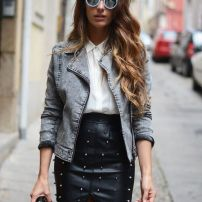 leather and jean