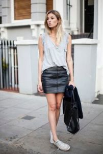 leather sporty chic