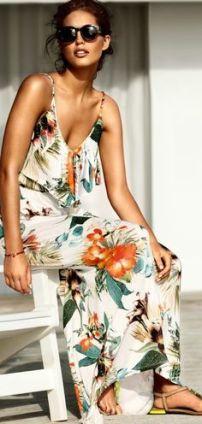 flores maxi vestido