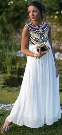white boho chic dress