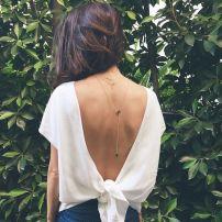 espalda con moño