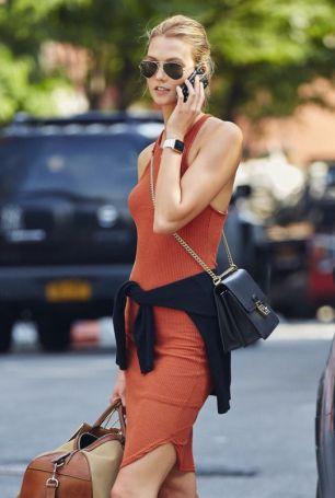 naranja vestido