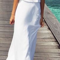 white long dress