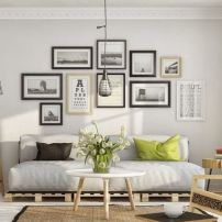 gallery wall living room