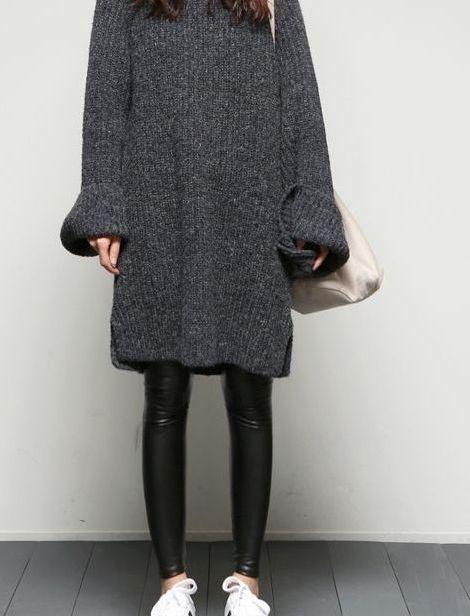 vestido tejido con leggin