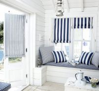navy white and blue home deco