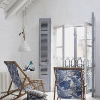 blanco y azul decoración