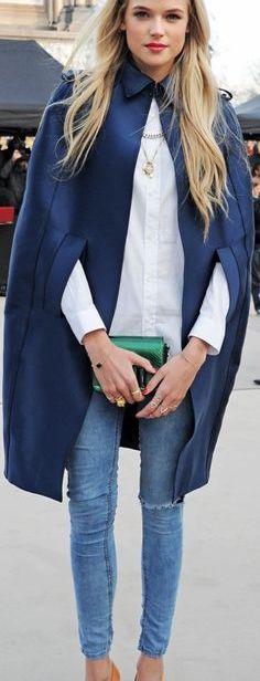capa-manta abrigo azul
