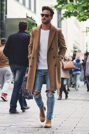 fashion man ripped jean