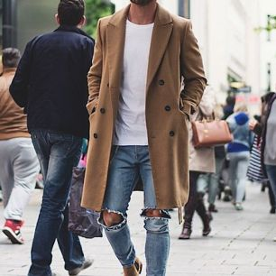 fashion man ripped jean